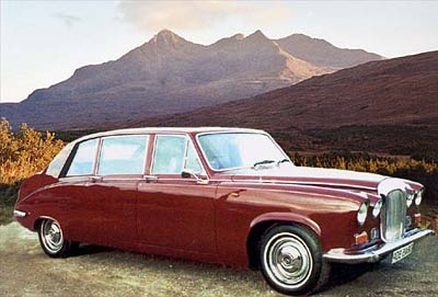 Skye wedding car - Daimler limousine